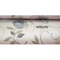 RD WPS082 WHITE N VECTOR WITH SILVER FLOWER WALPAPER STIKER WALLPAPER