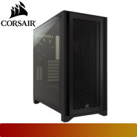 Corsair - 4000D AIRFLOW Tempered Glass Mid-Tower ATX Case — Black