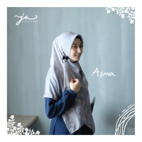 Jilbab Afra Arfa JA Signature Voal Segi Empat Hijab Instant Motif Asma