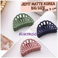 jepit korea doff large matte hair clip big