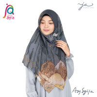Jilbab Afra JA Signature Voal Segi Empat Hijab Instant Motif Asy Syifa