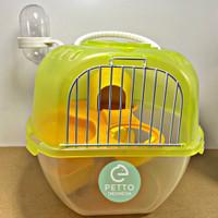 kandang hamster lengkap dengan tempat minum dan makan