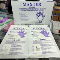 sarung tangan steril maxter