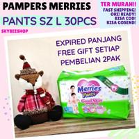 popok pampers merries green pants uk S 40 murah ready bdg - L 30