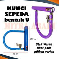 Alat Pengunci / Kunci Sepeda Bentuk U