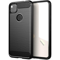 Armor Carbon TPU Case Google Pixel 4a - Casing Black Soft Cover Hitam