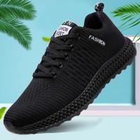 Sepatu Pria Sneakers Casual Flyknit PVC Import 3 Pilihan Warna