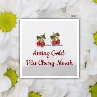 Anting wanita Pita Cherry Merah