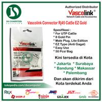 [PROMO RJ45 ANTI GAGAL] Vascolink Connector Rj45 Cat5e EZ GOLD 50pcs