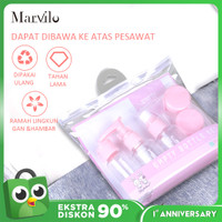 Marvilo Set Botol Travel 8 Pcs / Set Botol Kosong Mini