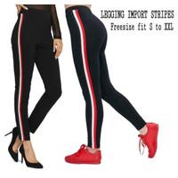 [Legging list red RO]Legging wanita spandek list red
