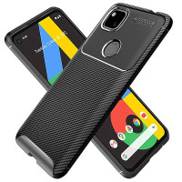 Carbon II TPU Case Google Pixel 4a - Casing Black Soft Armor Original
