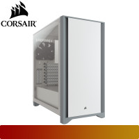 Corsair - 4000D Tempered Glass Mid-Tower ATX Case — White