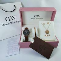 Jam Tangan Set Wd Wanita Paket Fashion Jam Wd Tali Kulit Full Set Box