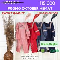 [4-12] Baju Tunik + Jilbab Anak perempuan Kualitas Export TO. 13 - 4, Merah Muda