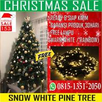 Pohon Natal Jarum 2,5 Meter 8ft/240cm Snow White Pine