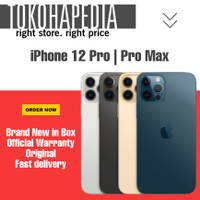 New iPhone 12 Pro | Pro Max 128GB Silver, Graphite, Gold, Pacific Blue