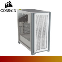 Corsair - 4000D AIRFLOW Tempered Glass Mid-Tower ATX Case — White