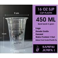 SABLON CUP GELAS PLASTIK 16 OZ 16OZ SJP STARINDO 5GR + CUSTOM LOGO