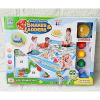 Mainan Ular Tangga Snakes & Ladders Karpet No.5844 Board Game
