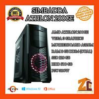 Pc Gaming/Editing Amd Athlon 200GE VEGA3 8GB 120GB 500GB - 8 gb