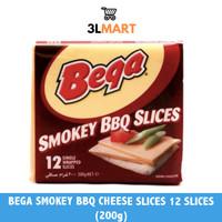 BEGA SMOKEY BBQ CHEESE SLICES 12 SLICES (200GR)