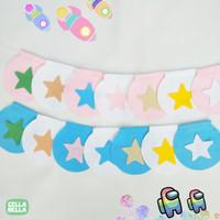 Cella Bella Hiasan Dinding Kamar Anak / Bintang Pastel - Biru Muda