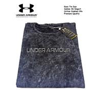 Kaos Cotton Combed 24s Tie Dye Denim Premium Quality - UA Hitam, L