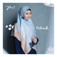 Jilbab Afra JA Signature Voal Segi Empat Hijab Instant Motif Halimah