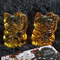 Maneki neko lucky fortune cat kucing rejeki crystal