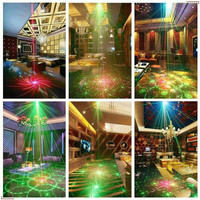 60 Pattern Mini LED Laser Projector proyektor Disco Party Club Light