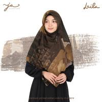 Jilbab Afra JA Signature Voal Segi Empat Hijab Instant Motif Laila