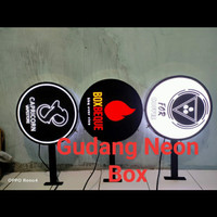 Neon box bulat murah+bereket