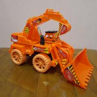 Mainan Mobil Truk Excavator Road Roller 2 in 1