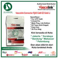[PROMO RJ45 ANTI GAGAL] Vascolink Connector Rj45 Cat6 EZ GOLD Li 50pcs