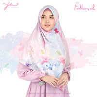 Jilbab Afra JA Signature Voal Segi Empat Hijab Instant Motif Fathimah