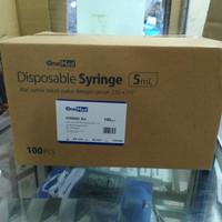 syringe spuit 5 cc/ml onemed