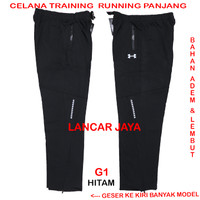 CELANA TRAINING OLAHRAGA PANJANG GYM RUNNING IMPORT PREMIUM - MY2 - Hitam, L