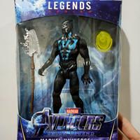 Marvell Avengers Spiderman Mainan karakter action figur 15 cm spider - black panther