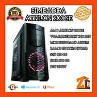 Pc Gaming/Editing Amd Athlon 200GE Radeon R7 240 2GB 8GB 120GB 500GB - 8 gb