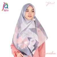 Jilbab Afra JA Signature Voal Segi Empat Hijab Instant Motif Rumaisha