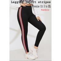[Legging import Rainbow red RO]Celana wanita spandek Red