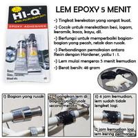 Lem EPOXY Power Steel Resin - Hardener 5 Menit