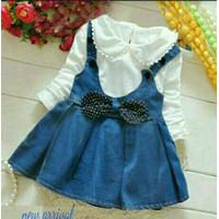 [St Aubrey VE]Setelan jumper anak perempuan babytery biru