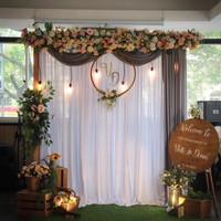 sewa dekorasi backdrop lamaran/wedding outdoor/indoor 2.2meter