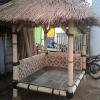 gazebo bambu minimalis ukuran