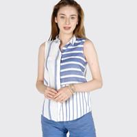Kemeja Tanpa Lengan / Trixie Blue Shirt 21380D5BI - Ninety Degrees