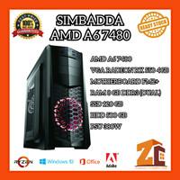 Pc Gaming/Editing Amd A6 7480|RX 550 4GB|8GB|120GB|500GB - 8 gb