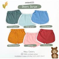 Ardenleon Short Stripe 2 / Celana Pendek Pop Anak - 6-12month, Forest Green