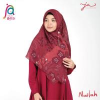 Jilbab Afra JA Signature Voal Segi Empat Hijab Instant Motif Nailah